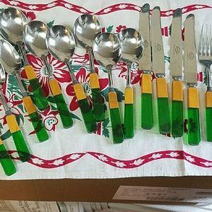 Art Deco flatware bakelite 17 pieces